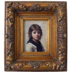 Arte: J PATON PORTRAIT HUILE GARÇON ENFANT MARINE RETRATO OLEO NIÑO CHICO CHICA JOVEN MARINERO LOUISE XVII. Lote 189129165