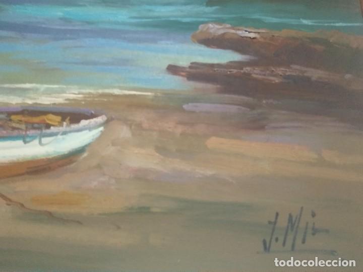 J. MIR ÓLEO SOBRE LIENZO (Arte - Pintura - Pintura al Óleo Contemporánea )