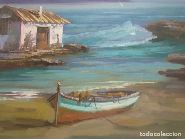 Arte: J. Mir óleo sobre lienzo - Foto 2 - 189129843