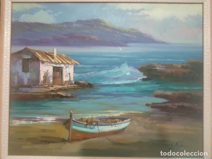 Arte: J. Mir óleo sobre lienzo - Foto 3 - 189129843