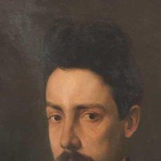 Arte: PINTURA FIGURATIVA ÓLEO CON RETRATO MASCULINO ATRIBUÍDO RAMÓN MARTÍ ALSINA. Lote 189143240