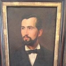 Arte: RETRATO AL ÓLEO DE CABALLERO S.XIX, DE GRAN CALIDAD PICTÓRICA. Lote 189179745