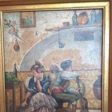Arte: CUADRO AL ÓLEO ESCENA ANTIGUA DE ÁMBITO ANDALUZ.. Lote 189180472