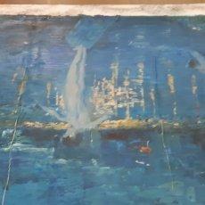Arte: REPRODUCCION AL OLEO DE LA NOCHE ESTRELLADA SOBRE EL RODANO. Lote 189200200