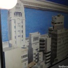 Arte: OLEO DEL GRAN PINTOR SALVADOR MONTO...ES VISTA DE UNA PARTE DE SANTA CRUZ DE TENERIFE. Lote 189217712