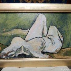 Arte: CUADRO DESNUDO OLEO SOBRE TABLA CONTEMPORÁNEO. Lote 189287103