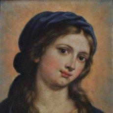 Arte: VIRGEN MARÍA, ÓLEO SOBRE COBRE. Lote 189302917