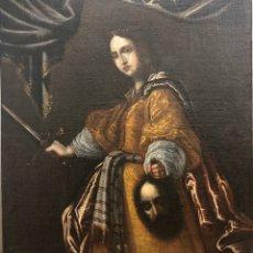 Arte: ESCUELA SEVILLANA SG. XVII. JUDITH Y HOLOFERNES. SIGUIENDO MODELOS DE CRISTIANO ALLORI. ÓLEO LIENZO.. Lote 189377976