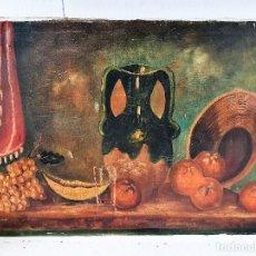 Arte: ANTIGUO OLEO SOBRE LIENZO FIRMADO. Lote 189385782
