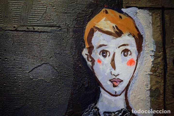 Arte: MIGUEL TORNER DE SEMIR TÉCNICA MIXTA ENMARCADO GRAN FORMATO - Foto 6 - 188491855