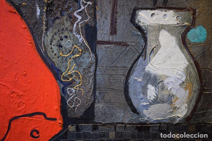Arte: MIGUEL TORNER DE SEMIR TÉCNICA MIXTA ENMARCADO GRAN FORMATO - Foto 8 - 188491855