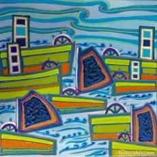 Arte: RUTH CALDERÍN (LPGC 1977) EL PUERTO DE LA LUZ. Lote 189477635