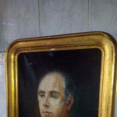 Arte: CUADRO OLEO SOBRE LIENZO,RETRATO, FIRMADO AMÓS,58X70 CM. Lote 189477975