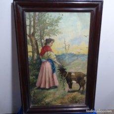 Arte: ÓLEO ANÓNIMO SOBRE CARTÓN DURO DEL SIGLO XIX.ESCUELA CATALANA.. Lote 189521155