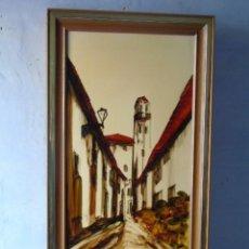 Arte: CUADRO PINTURA ESMALTE FIRMADO VANESSA VALENTIN NECTOR SALADRIGAS . Lote 189644072