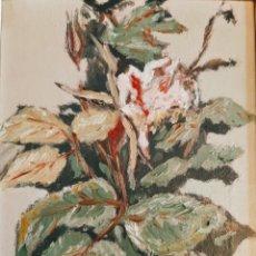 Arte: ÓLEO F.CORTADELLA ( RAMO CON FLOR ). Lote 189671621