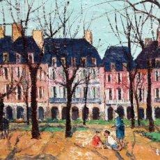 Arte: JOSEP Mª VAYREDA CANADELL (OLOT 1932 - GIRONA 2001) OLEO LIENZO. PLACE DES VOSGES (PARIS). AÑO 1967. Lote 189673385