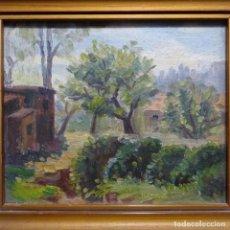 Arte: OLEO SOBRE TABLEX FIRMADO EN EL REVERSO PATIÑO(GALICIA).. Lote 189710742