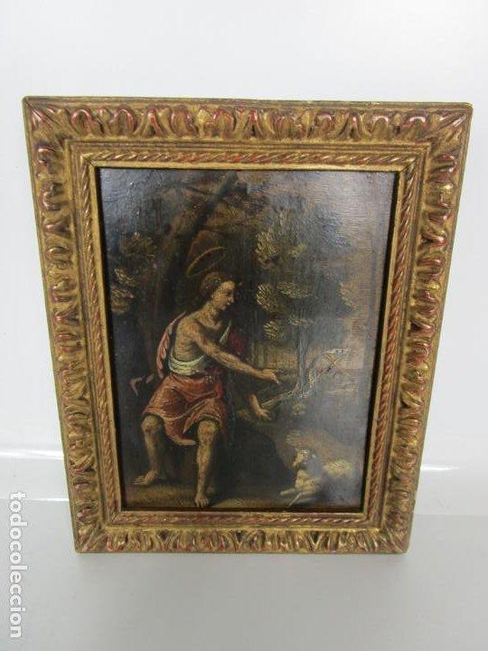 Arte: Precioso Óleo sobre Cobre - El Cordero de Dios, Agnus Dei - Escuela Francesa - S. XVII - Foto 2 - 189721850