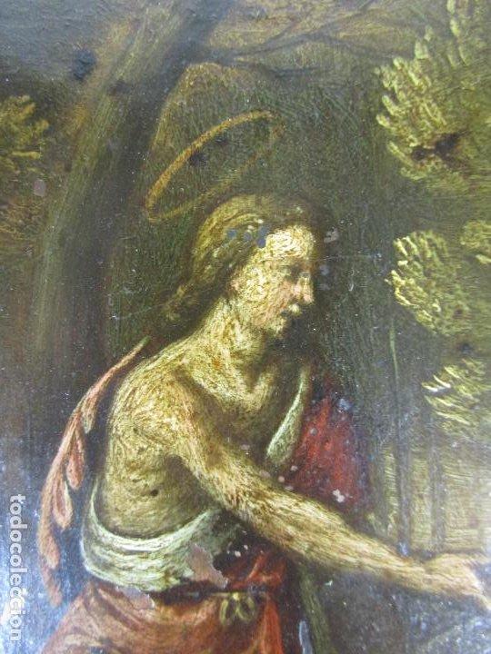 Arte: Precioso Óleo sobre Cobre - El Cordero de Dios, Agnus Dei - Escuela Francesa - S. XVII - Foto 3 - 189721850