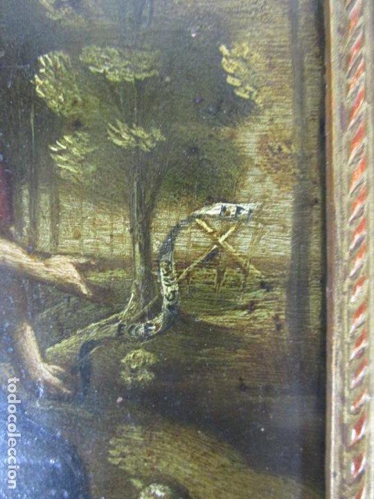 Arte: Precioso Óleo sobre Cobre - El Cordero de Dios, Agnus Dei - Escuela Francesa - S. XVII - Foto 4 - 189721850