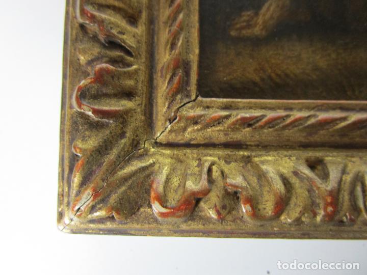 Arte: Precioso Óleo sobre Cobre - El Cordero de Dios, Agnus Dei - Escuela Francesa - S. XVII - Foto 6 - 189721850