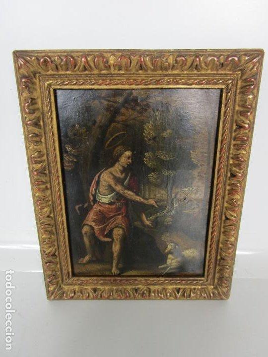 Arte: Precioso Óleo sobre Cobre - El Cordero de Dios, Agnus Dei - Escuela Francesa - S. XVII - Foto 7 - 189721850
