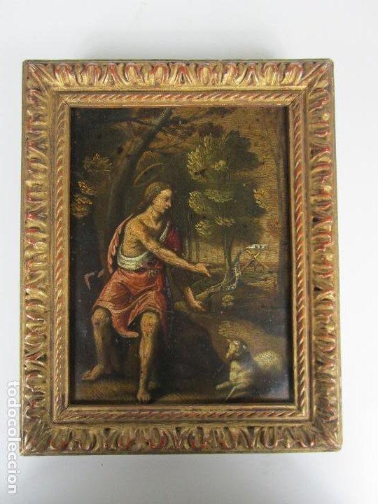 Arte: Precioso Óleo sobre Cobre - El Cordero de Dios, Agnus Dei - Escuela Francesa - S. XVII - Foto 9 - 189721850