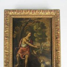 Arte: PRECIOSO ÓLEO SOBRE COBRE - EL CORDERO DE DIOS, AGNUS DEI - ESCUELA FRANCESA - S. XVII. Lote 189721850