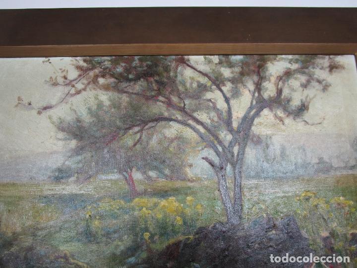 Arte: Melchor Domenge (Olot 1871 - 1939) - Paisaje - Óleo sobre Tela - Alumno Preferido de Vayreda - Foto 4 - 189728813