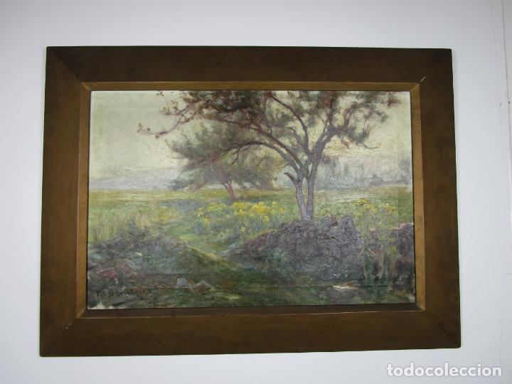 Arte: Melchor Domenge (Olot 1871 - 1939) - Paisaje - Óleo sobre Tela - Alumno Preferido de Vayreda - Foto 7 - 189728813