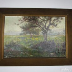 Arte: MELCHOR DOMENGE (OLOT 1871 - 1939) - PAISAJE - ÓLEO SOBRE TELA - ALUMNO PREFERIDO DE VAYREDA. Lote 189728813