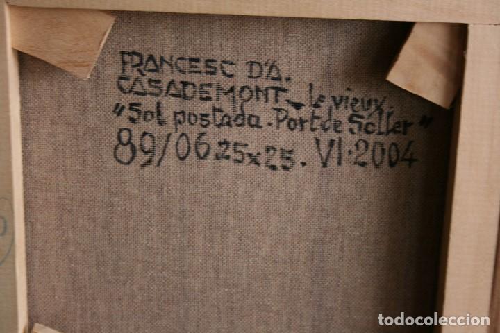 Arte: FRANCESC CASADEMONT- LE VIEUX- (BARCELONA, 1923 - GIRONA, 2007) OLEO / TELA,PORT DE SOLLER. - Foto 3 - 189768476