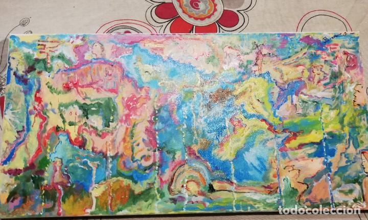 Arte: Cuadro Pintura Impresionista -abstracta , Acrilico sobre lienzo firmado - Foto 2 - 102822563