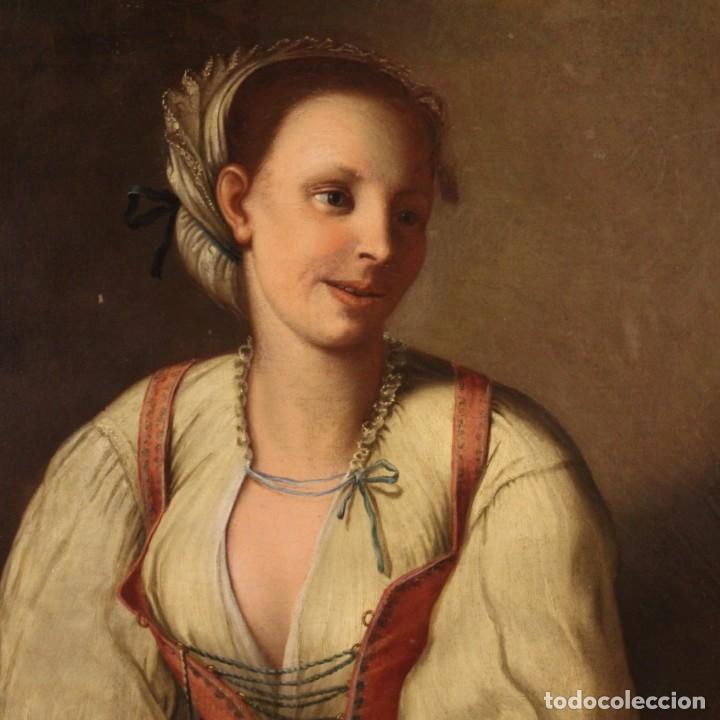 PINTURA ANTIGUA RETRATO ITALIANO DEL SIGLO XVIII (Arte - Pintura - Pintura al Óleo Antigua siglo XVIII)