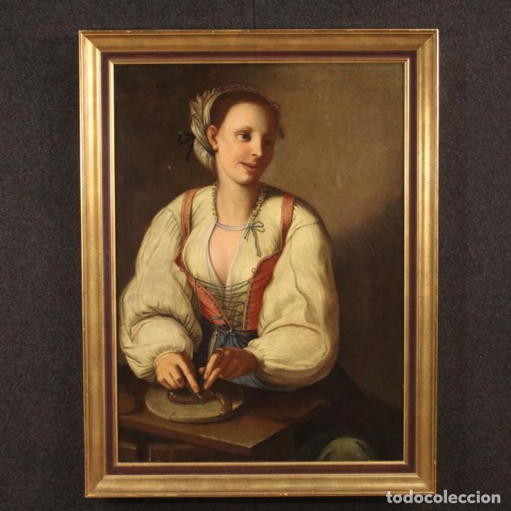 Arte: Pintura antigua retrato italiano del siglo XVIII - Foto 2 - 189806997