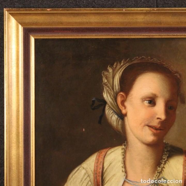 Arte: Pintura antigua retrato italiano del siglo XVIII - Foto 4 - 189806997