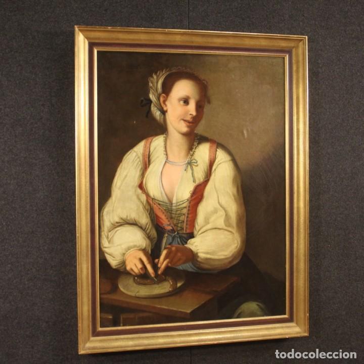 Arte: Pintura antigua retrato italiano del siglo XVIII - Foto 9 - 189806997