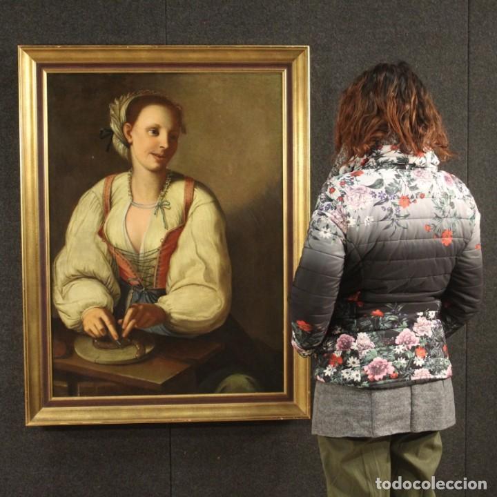 Arte: Pintura antigua retrato italiano del siglo XVIII - Foto 12 - 189806997