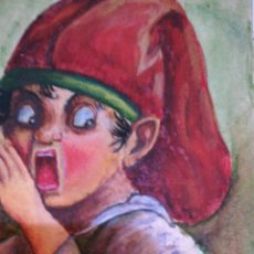 Arte: J BADIA FIRMADO DIBUJO HECHO POR ÉL. Lote 189822236