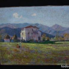 Arte: JOSEP PUJOL I RIPOLL (OLOT, 1905 - 1987) OLEO SOBRE TELA, BONITO PAISAJE . FIRMADO. Lote 189877380