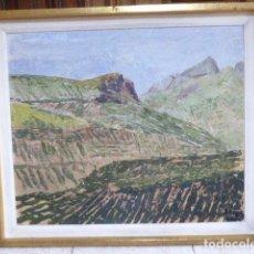 Arte: OLEO SOBRE TABLA. PAISAJE RURAL. FIRMADO ARCOS. 47 X 55 CM OBRA PINTADA. Lote 189877548