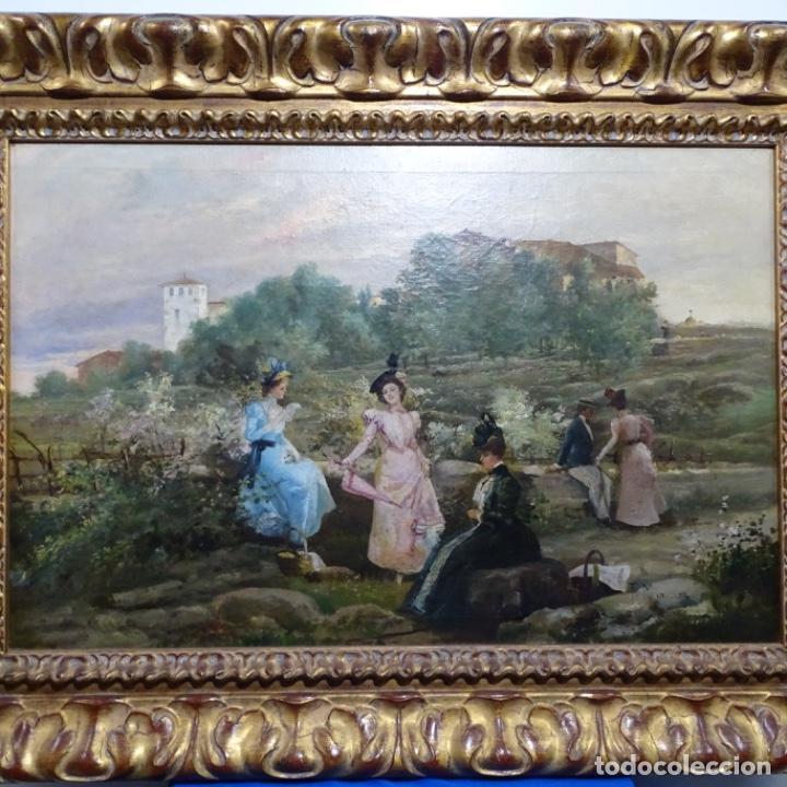 EXCELENTE ÓLEO SOBRE TELA DE FRANCISCO MIRALLES I GALUP(VALENCIA 1848-1901).PIEZA DE MUSEO. (Arte - Pintura - Pintura al Óleo Moderna siglo XIX)