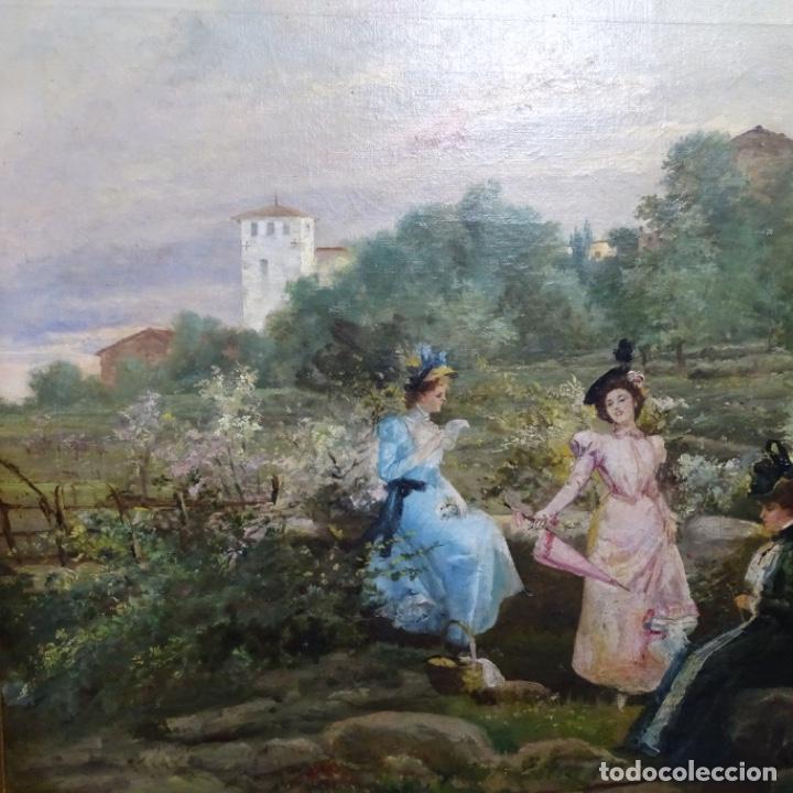Arte: Excelente óleo sobre tela De Francisco miralles i galup(valencia 1848-1901).pieza de museo. - Foto 3 - 189970271