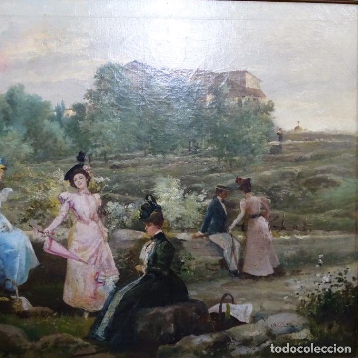 Arte: Excelente óleo sobre tela De Francisco miralles i galup(valencia 1848-1901).pieza de museo. - Foto 4 - 189970271