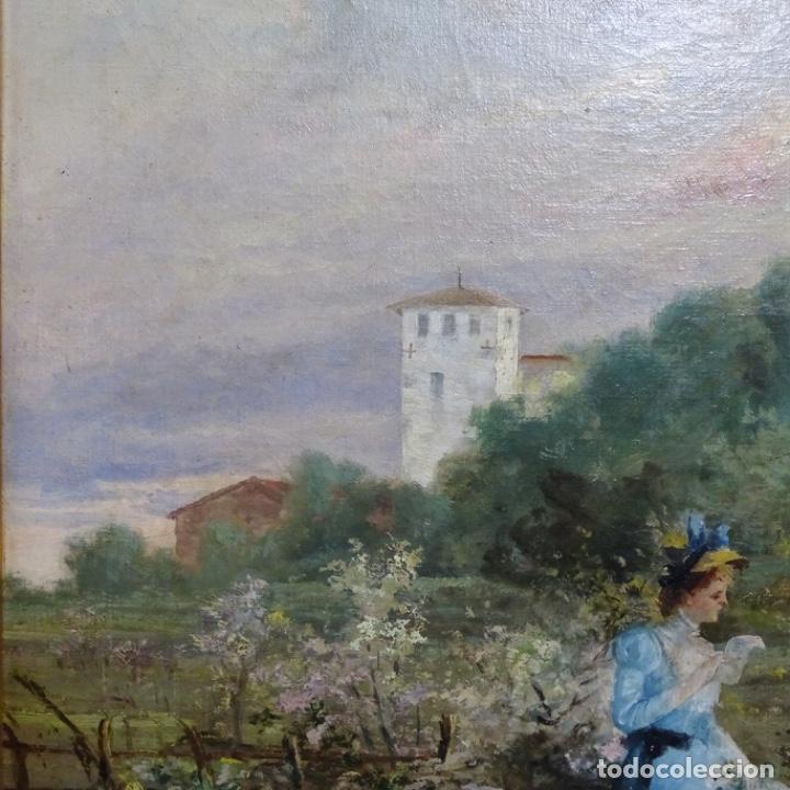 Arte: Excelente óleo sobre tela De Francisco miralles i galup(valencia 1848-1901).pieza de museo. - Foto 7 - 189970271