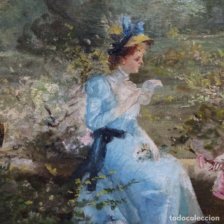 Arte: Excelente óleo sobre tela De Francisco miralles i galup(valencia 1848-1901).pieza de museo. - Foto 8 - 189970271