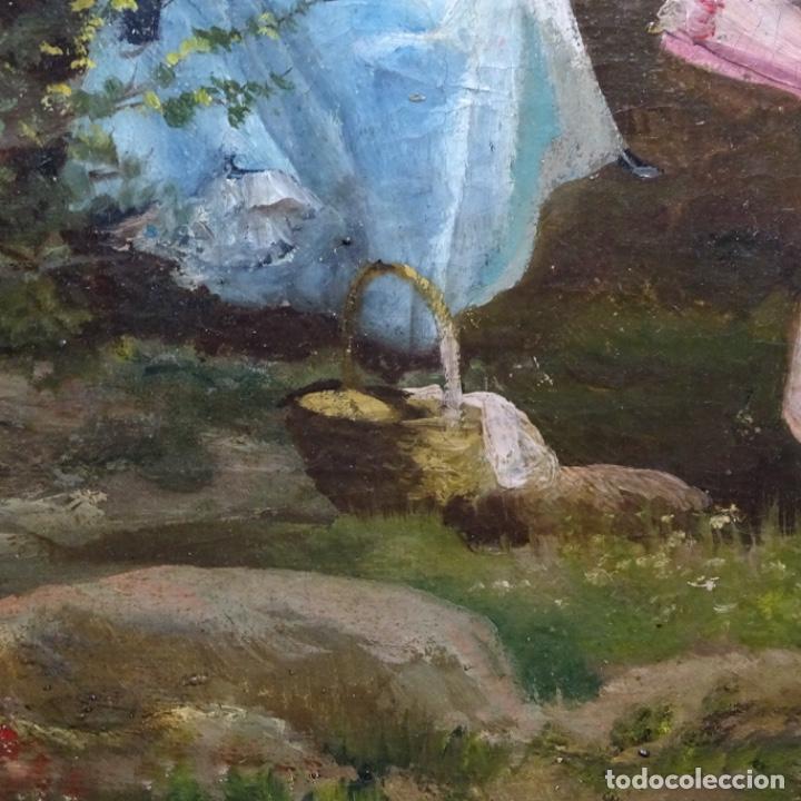 Arte: Excelente óleo sobre tela De Francisco miralles i galup(valencia 1848-1901).pieza de museo. - Foto 9 - 189970271
