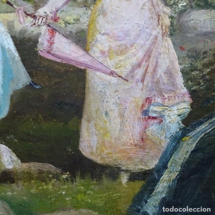 Arte: Excelente óleo sobre tela De Francisco miralles i galup(valencia 1848-1901).pieza de museo. - Foto 11 - 189970271