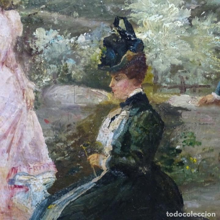 Arte: Excelente óleo sobre tela De Francisco miralles i galup(valencia 1848-1901).pieza de museo. - Foto 12 - 189970271